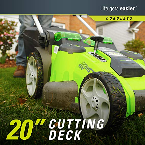 Greenworks-Lawn-Mower cutting path