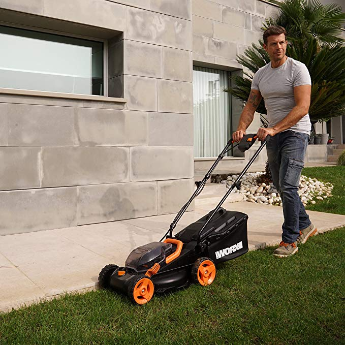 Worx WG779 Cordless Push Lawn Mower