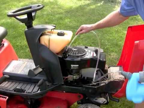 change old oil mower