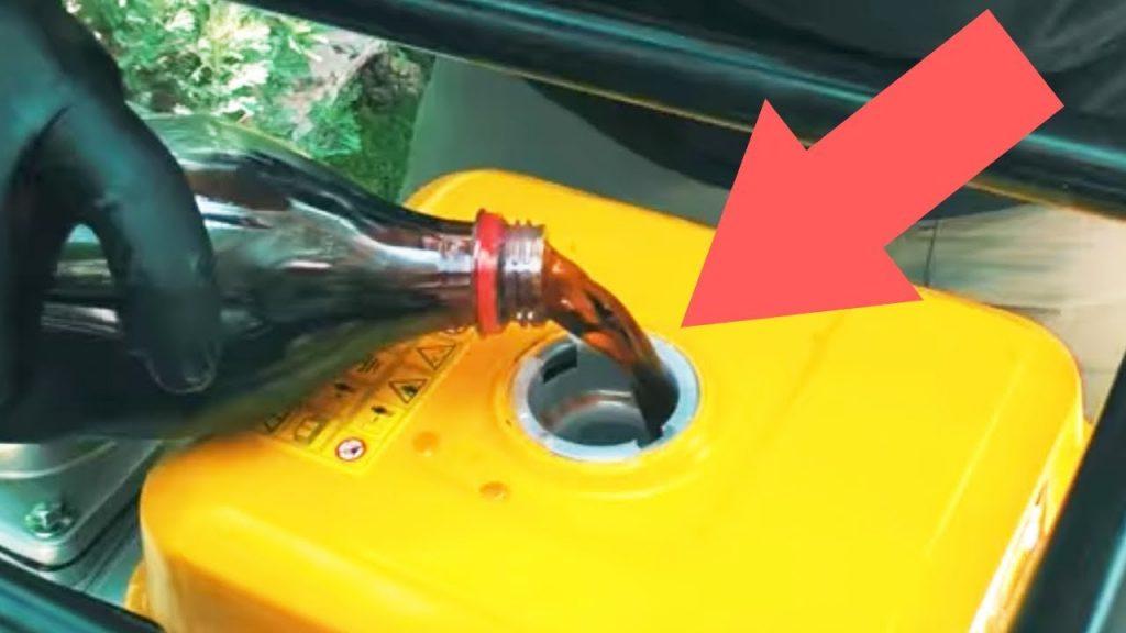 new oil in mower